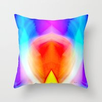 psychedelic art Throw Pillows featuring Psychedelic by Rafael Salazar