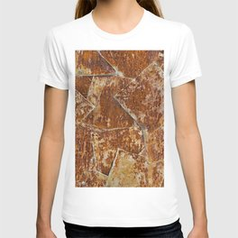 Abstract rusty background T-shirt