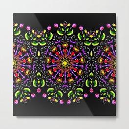 Eternal Garden Mandala Metal Print