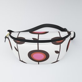 Retro 1960s style pattern flowers Fanny Pack