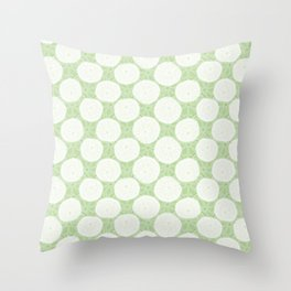 Rounded Pennywort Foliage Pattern Throw Pillow