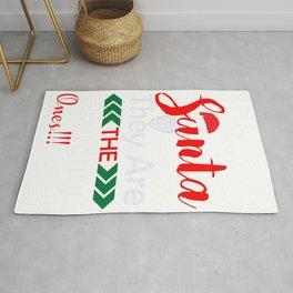 Dear Santa Naughty Ones Funny Christmas graphic Rug