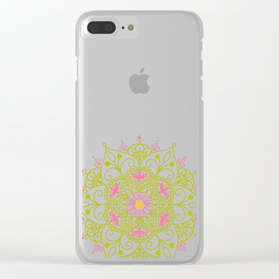 Mandala_Spring Clear iPhone Case