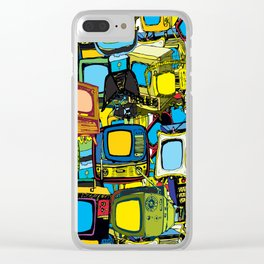 Televisions of various ages Clear iPhone Case
