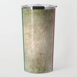 Old and Worn Distressed Vintage Flag of Italy Travel Mug