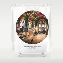 012: KAOS Temple, Spain Shower Curtain