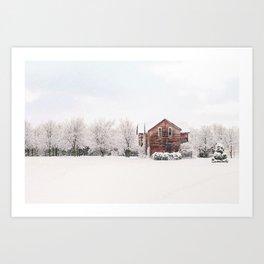 The Winter House Art Print