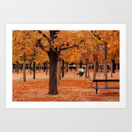 Paris in the Fall Art Print