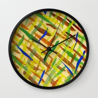 the strokes Wall Clocks featuring brush strokes by littlesilversparks