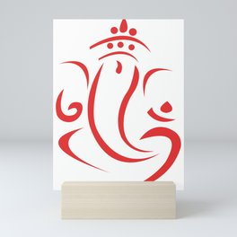 Elegant Line Art Lord Ganesha Mini Art Print