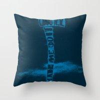 donnie darko Throw Pillows featuring Donnie Darko by Drew Wallace