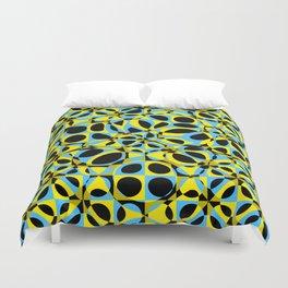 yellow blue circle pattern Duvet Cover