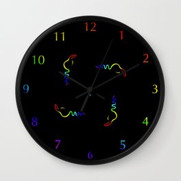 Gay Dancing Cobra Pattern Wall Clock