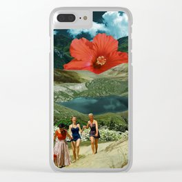 Valley of the flower Clear iPhone Case