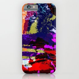 Hina - Abstract Colorful Retro Tie Dye Style Pattern iPhone Case