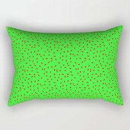 Seeds  Green Rectangular Pillow