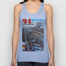 1969 Le Mans poster, Race poster, Car poster, vintage poster Unisex Tank Top