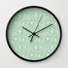 Chotic Angles in Teal by Deirdre J Designs Wall Clock
