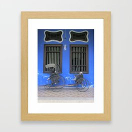 Blue Mansion in Penang, Malaysia (2013g) Framed Art Print
