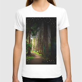 Magical Irish Forest Photography Children Fairy Tale Nursery Home Decor Print T-shirt