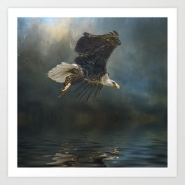 Bald Eagle Fishing Art Print