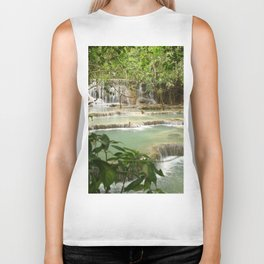 Zen Waterfalls Harmony #2 Biker Tank
