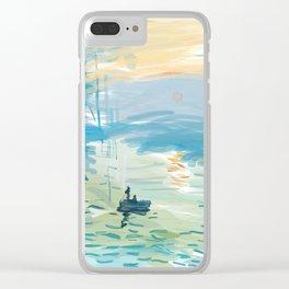Impressionism Adobe Draw Clear iPhone Case