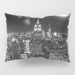 New York Under the Moon Pillow Sham