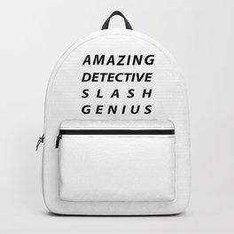 AMAZING DETECTIVE SLASH GENIUS Backpack