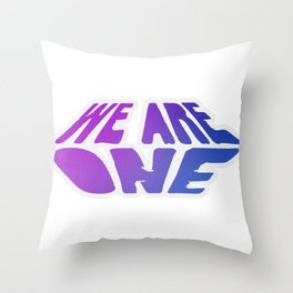 We Are One, violet Throw Pillow