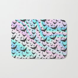 Holographic Glitter Bats Pattern Bath Mat