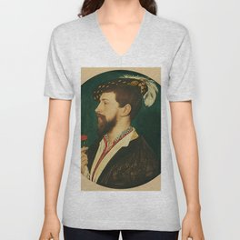 "Hans Holbein the Younger ""Portrait of Simon George of Cornwall"" Unisex V-Neck"