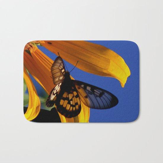Transparent Butterfly Bath Mat