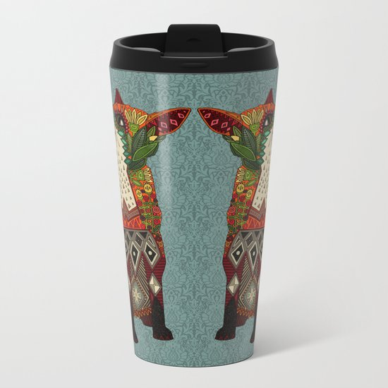 fox love Metal Travel Mug