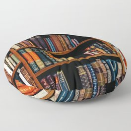 The Bookshelf (Color) Floor Pillow