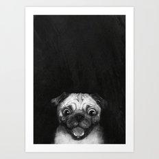 Snuggle pug Art Print
