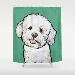 Gracie the Bichon Shower Curtain