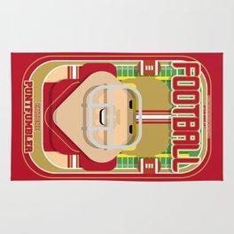 American Football Red and Gold - Enzone Puntfumbler - Sven version Rug