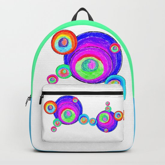 Colorful Secret Geometry   painting by Elisavet #society6 Backpack