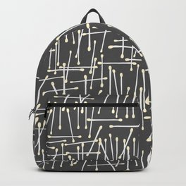 Cotton Swabs Pattern on grey background Backpack