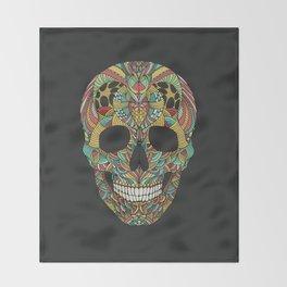 Ethno skull Throw Blanket