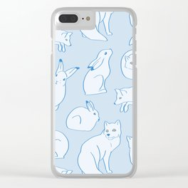 Arctic Pattern Clear iPhone Case