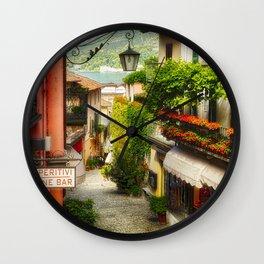 Street in Bellagio Wall Clock