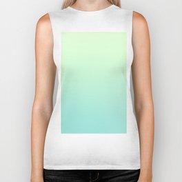 FAERIE GREEN - Minimal Plain Soft Mood Color Blend Prints Biker Tank