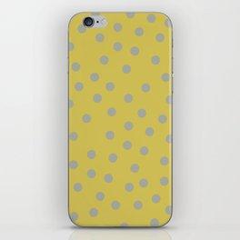 Simply Dots Retro Gray on Mod Yellow iPhone Skin