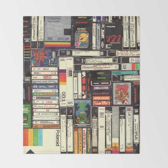 Cassettes, VHS & Games Throw Blanket