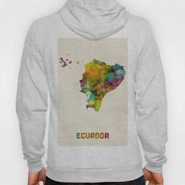Ecuador Watercolor Map Hoody