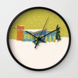 Christmas Mod Chartuese Wall Clock