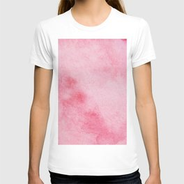 Watercolor abstraction pink background. T-shirt