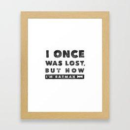 I once was lost... Framed Art Print